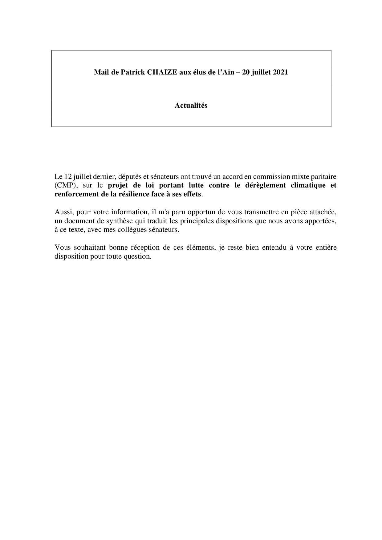 Mail_Information_Communiqué_Elus_Ain_N°80_202100720